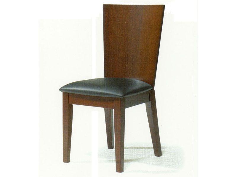 spoleto contemporary walnut dining chair portland oregon nswe28178