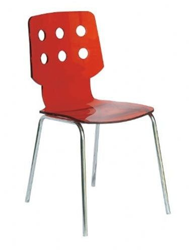 Unique Back Shaped Acrylic Dining Chair Dallas Texas 6079ohe