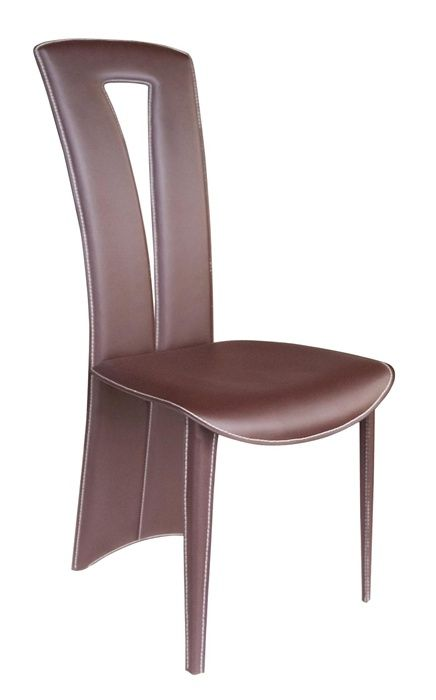 Brown color dining chair with unique designed backrest new york new