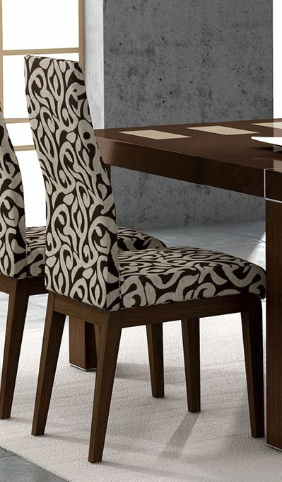 Irene contemporary fabric dining room chair lubbock texas for Fabric dining room chairs