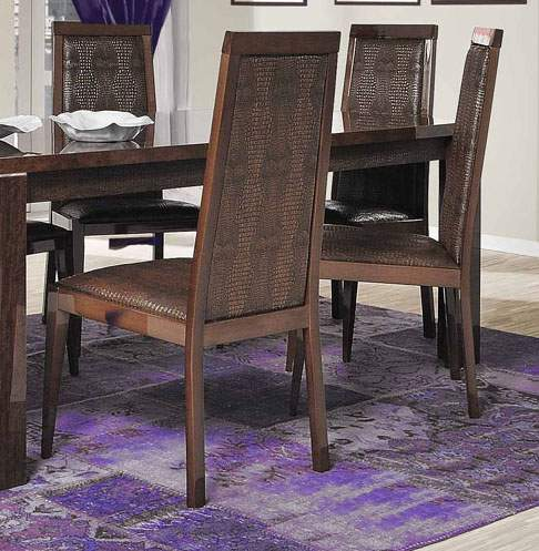 Super Contemporary Italian Dining Chair Crocodile Skin Leather Like Accents Creativecarmelina Interior Chair Design Creativecarmelinacom