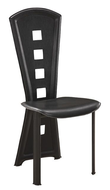 Elegant cut out back black dining chairs toledo ohio gf dc