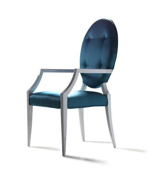 Modern Chairs Top 5 Luxury Fabric Brands Exhibiting At: Contemporary Side Chair W/ Round Back And Soft Fabric