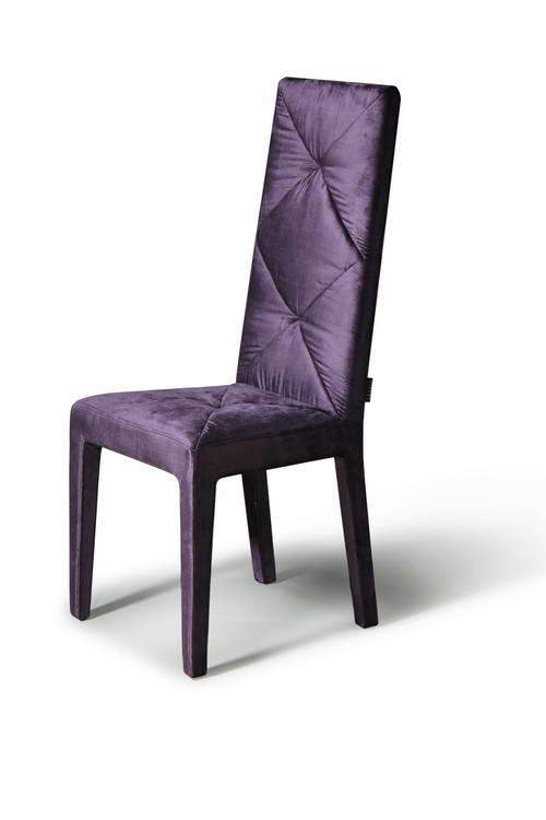 Contemporary Dining Chairs, Dinette Furniture. Soft Silky Feel Purple  Dining Chair With High Comfortable Back