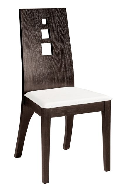Vista dining chair with wood back and washable leather for Wood dining chairs with leather seats