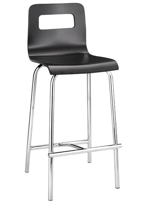 Escape Counter Chrome Finish Stool With 24 Seat Height