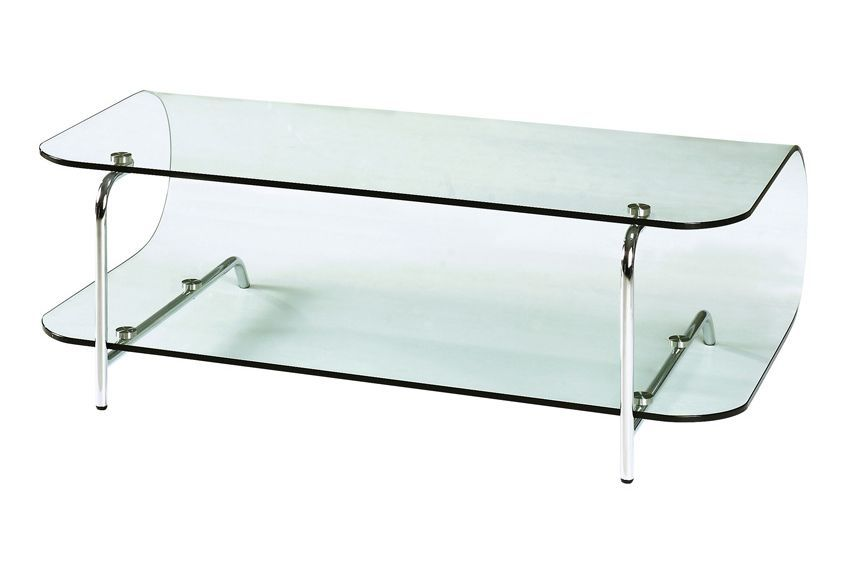 Lujuria Entertainment Stand with Bent Glass Body