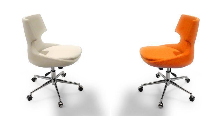 Patara Office Chair With Futuristic Eggshell Shape Prime