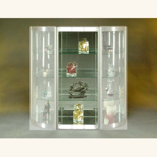 Rectangular Wall Curio With Mirrored Back Prime Classic