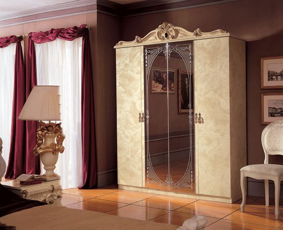 Barocco Ivory Traditional Design 4 Door Wardrobe Prime