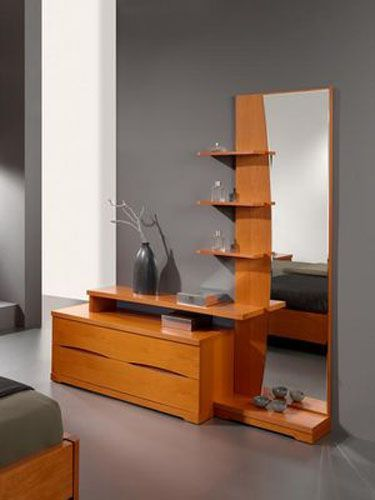 fancy contemporary dresser with full size mirror from