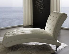 Comfortable Metal Accent Tufted Chaise Lounge