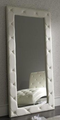 Spain Full Length Eco Leather Upholstered Floor Mirror
