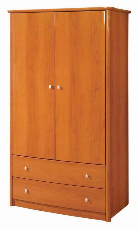 cherry or wenge finished contemporary armoire emily prime. Black Bedroom Furniture Sets. Home Design Ideas