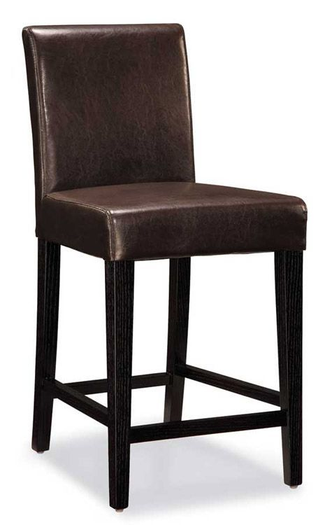 Counter Height Chair Wenge Beige Leather Cushion And Wenge