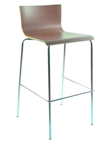 Contemporary Air Bar Stool With Metal Base Prime Classic