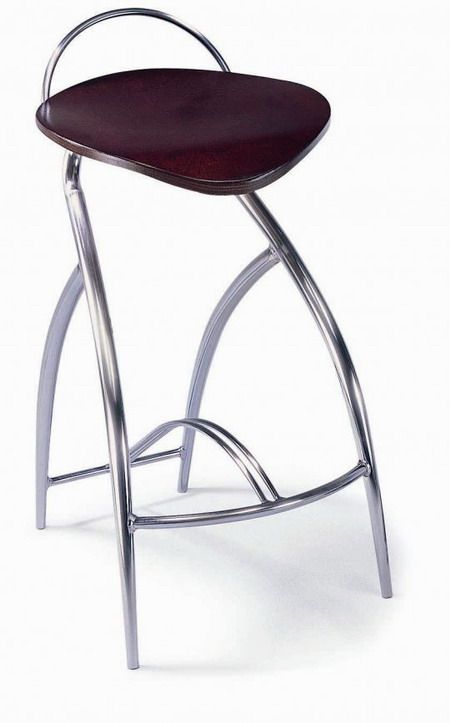 Elegant Bar Stool With Curved Chrome Legs Prime Classic