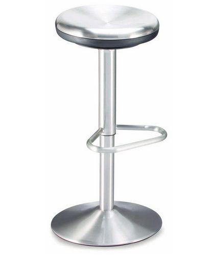 Adjustable Barstool In Brushed Chrome Prime Classic Design