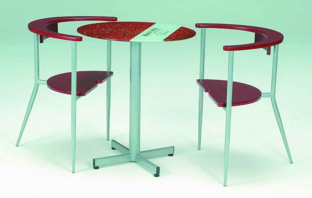 Unique design mini cafe table with metal tube base prime classic design mode - Mini bar table design ...