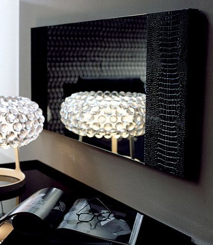 Rectangular Bedroom Design Black Leather Bedroom Suite Bedrooms For Teenage Girls Tumblr Toddler Boy Bedroom Wallpaper: Rectangular Contemporary Diamond Mirror With Crocodile