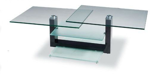 rectangular glass contemporary coffee table with unique glass shelves amarillo texas ah6300. Black Bedroom Furniture Sets. Home Design Ideas