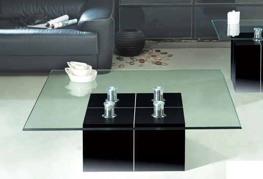 Excellent Square Coffee Table With Clear Glass Top And Black Base Beutiful Home Inspiration Xortanetmahrainfo