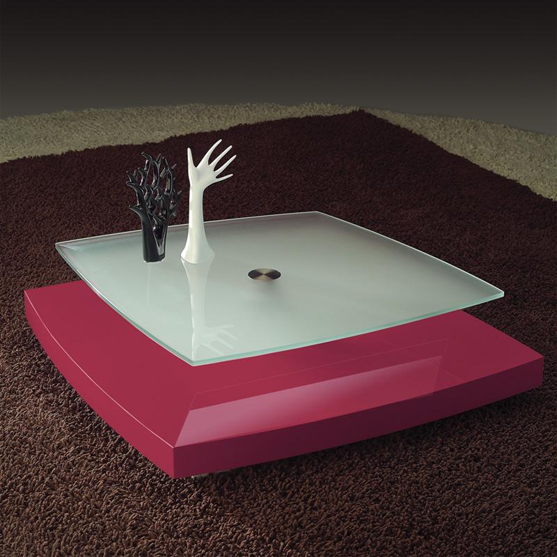 Ultra Moderm Rose Coffee Table With Matt Glass Top Shelf