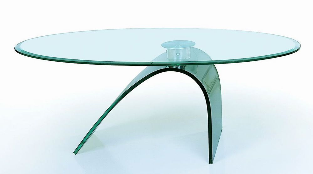Designer Coffee Tables, Stylish Accessories. Glass Coffee Table With Curved  ...