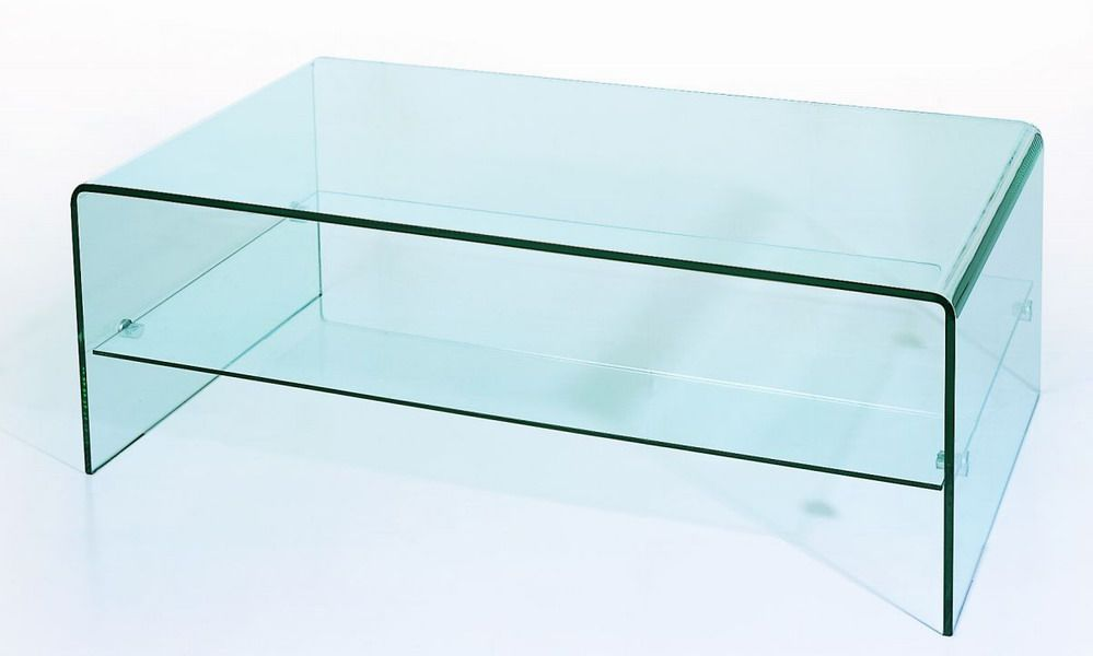 Cool Bent Glass Two Tiered Coffee Table Ocoug Best Dining Table And Chair Ideas Images Ocougorg