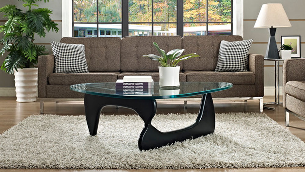 lacquered finish wood coffee table of isamu noguchi new york new york ac018. Black Bedroom Furniture Sets. Home Design Ideas