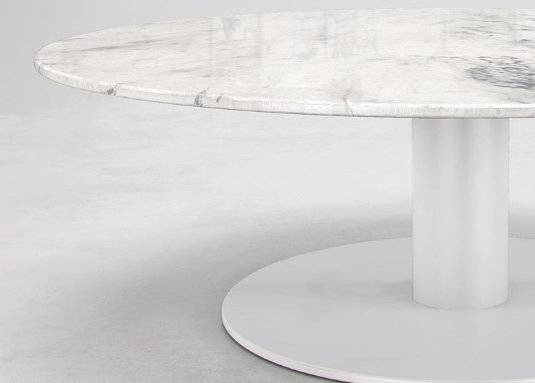 Natural Italian Marble Coffee Table With Two Size Options