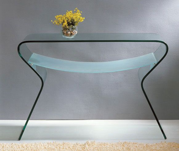 Clear Curved Glass Coffee Table With Shelf Sioux Falls