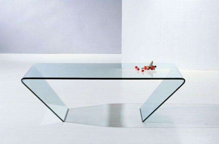 Clear Glass Contemporary Coffee Table Salem Oregon J M 519