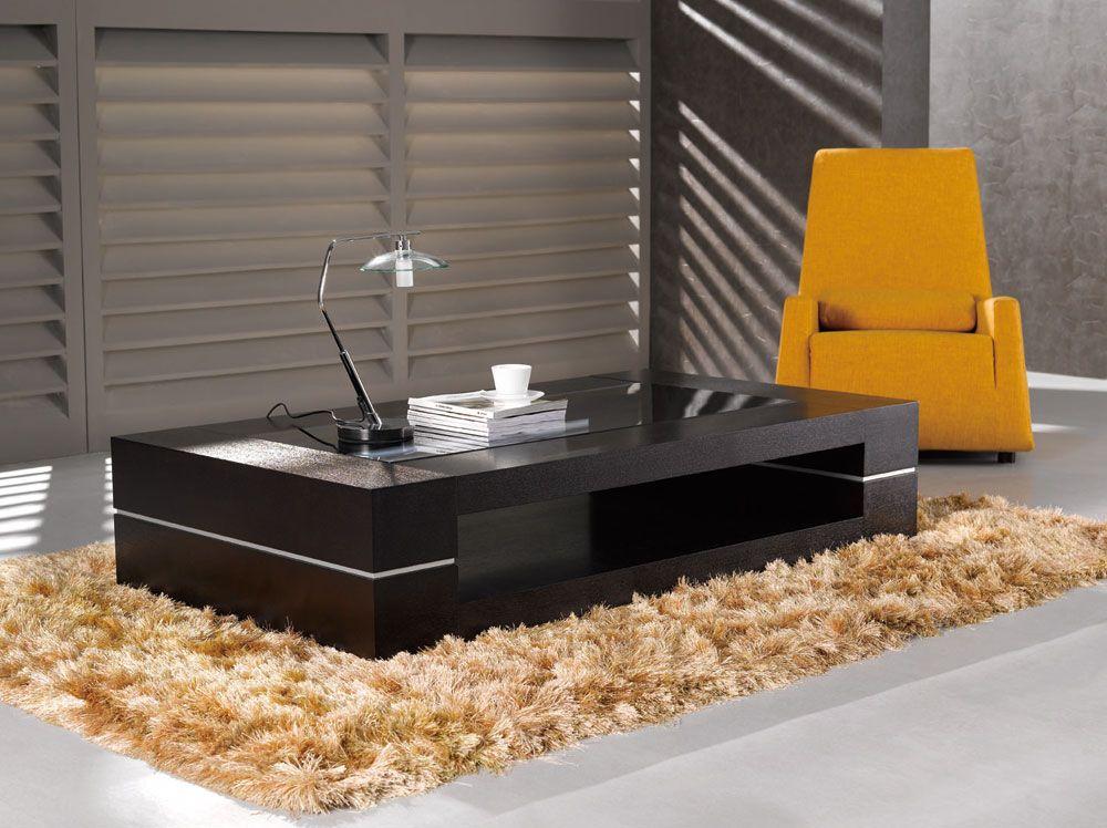 Durable oak veneer contemporary wenge coffee table - Modern coffee table designs ...