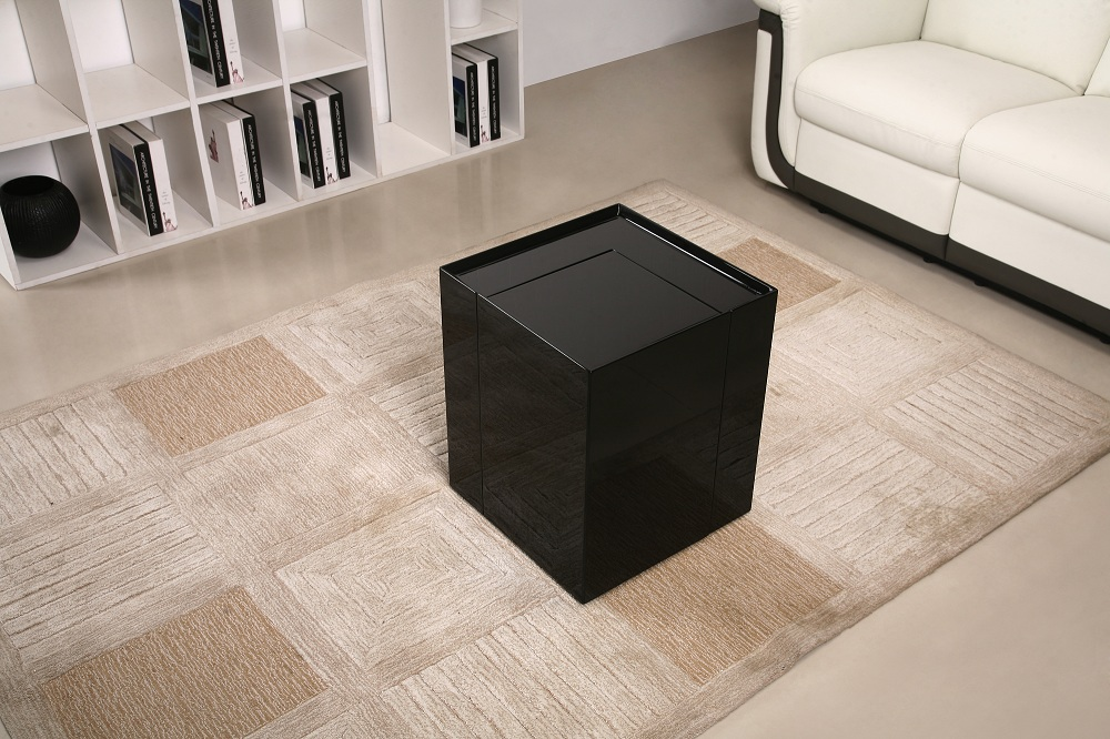 Contemporary Coffee End Table With Mini Storage Bar Inside Chicago - Mini noguchi table