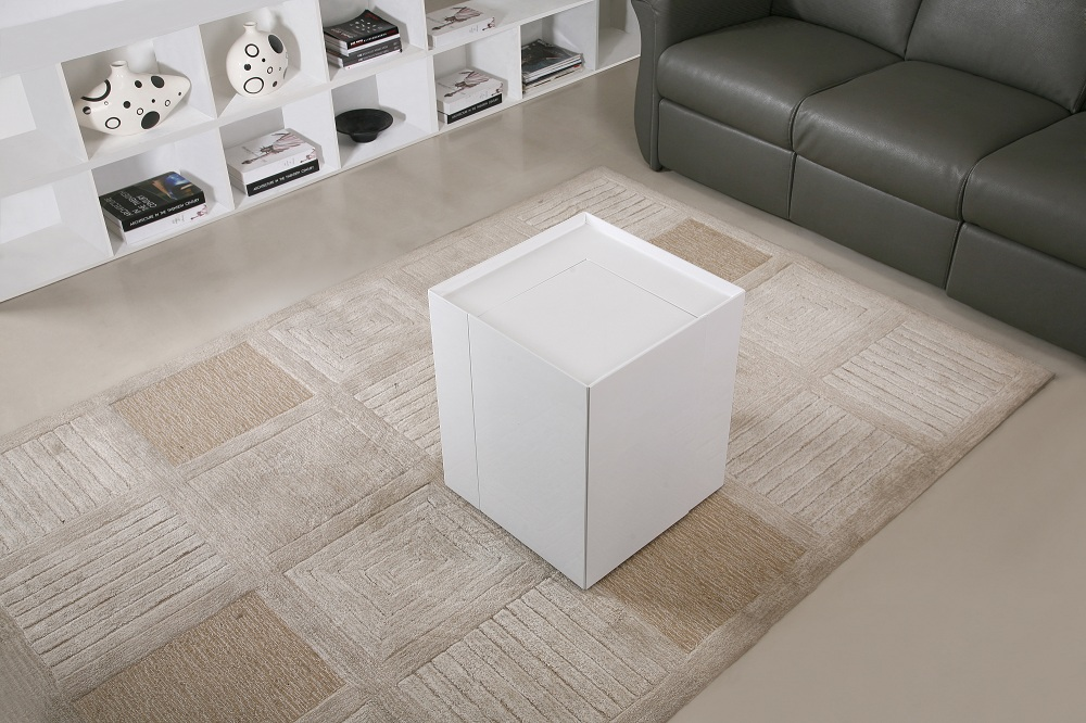 Contemporary Coffee End Table With Mini Storage Bar Inside Chicago