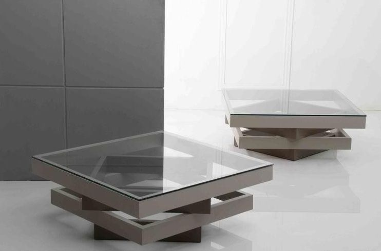 Elodia Contemporary Coffee Table With Glass Top Washington DC V842CT
