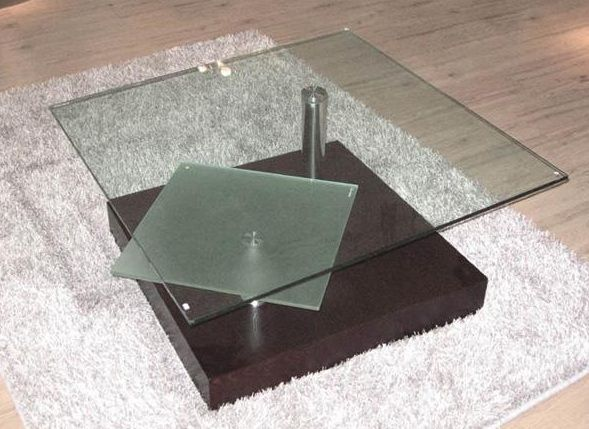 Square Glass Top Contemporary Coffee Table Henderson Nevada VCJ071