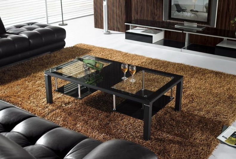 Contemporary Rectangular Glass Coffee Table Aurora Colorado VCJ084A