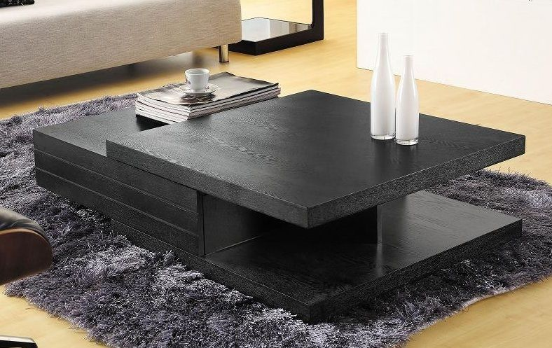 Contemporary Black Multi Layered Coffee Table Tampa