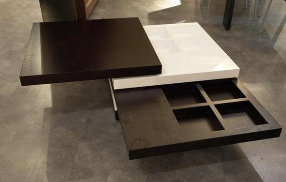 Brown And White Squared Multi Function Coffee Table Virginia Beach