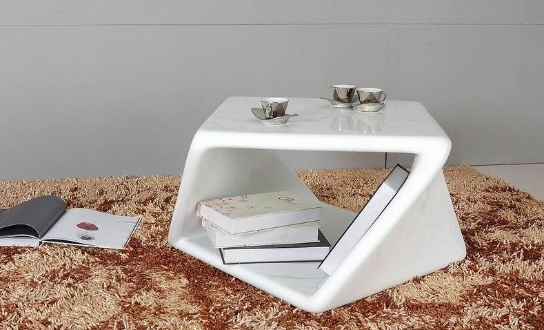 Superbe White Modern End Table