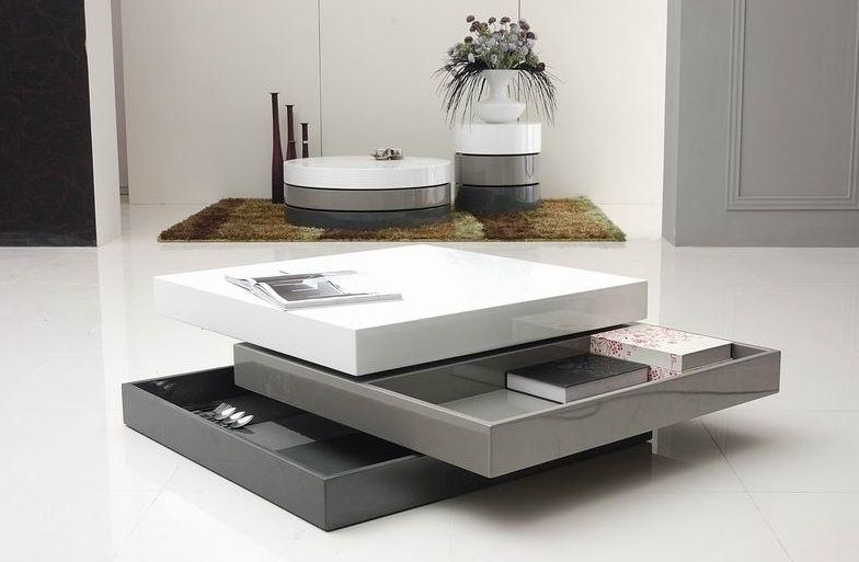 lacquered 3 tone square coffee table fort worth texas vtrio2. Black Bedroom Furniture Sets. Home Design Ideas