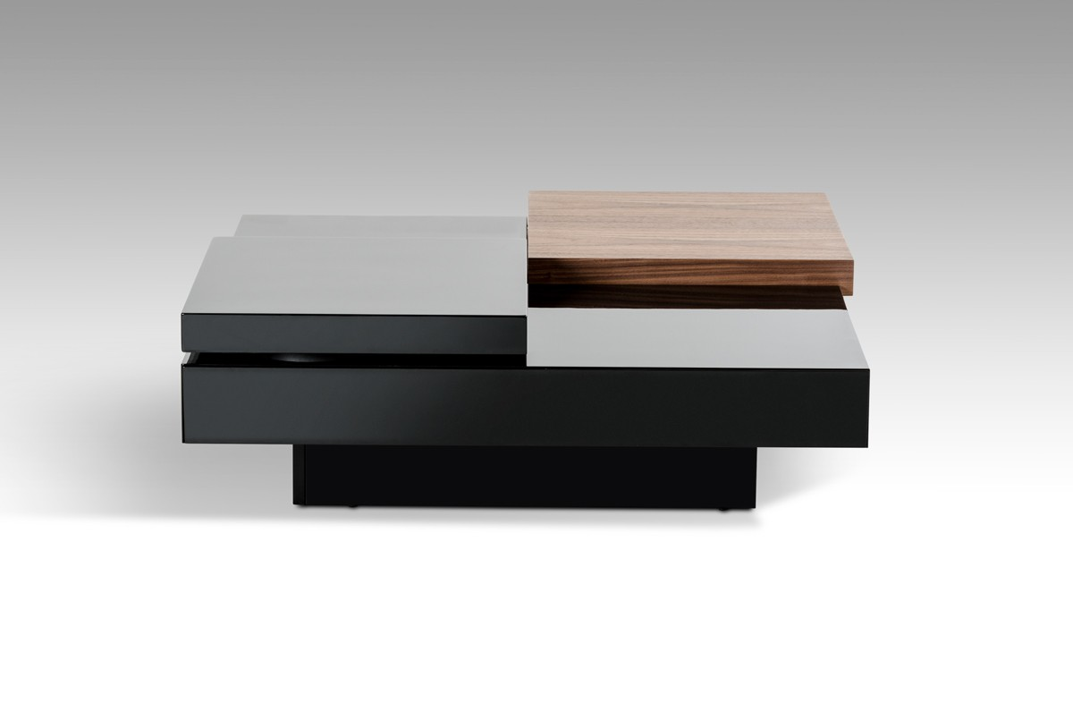 Walnut and black transformer coffee table detroit michigan vig mh1412 designer coffee tables stylish accessories geotapseo Images