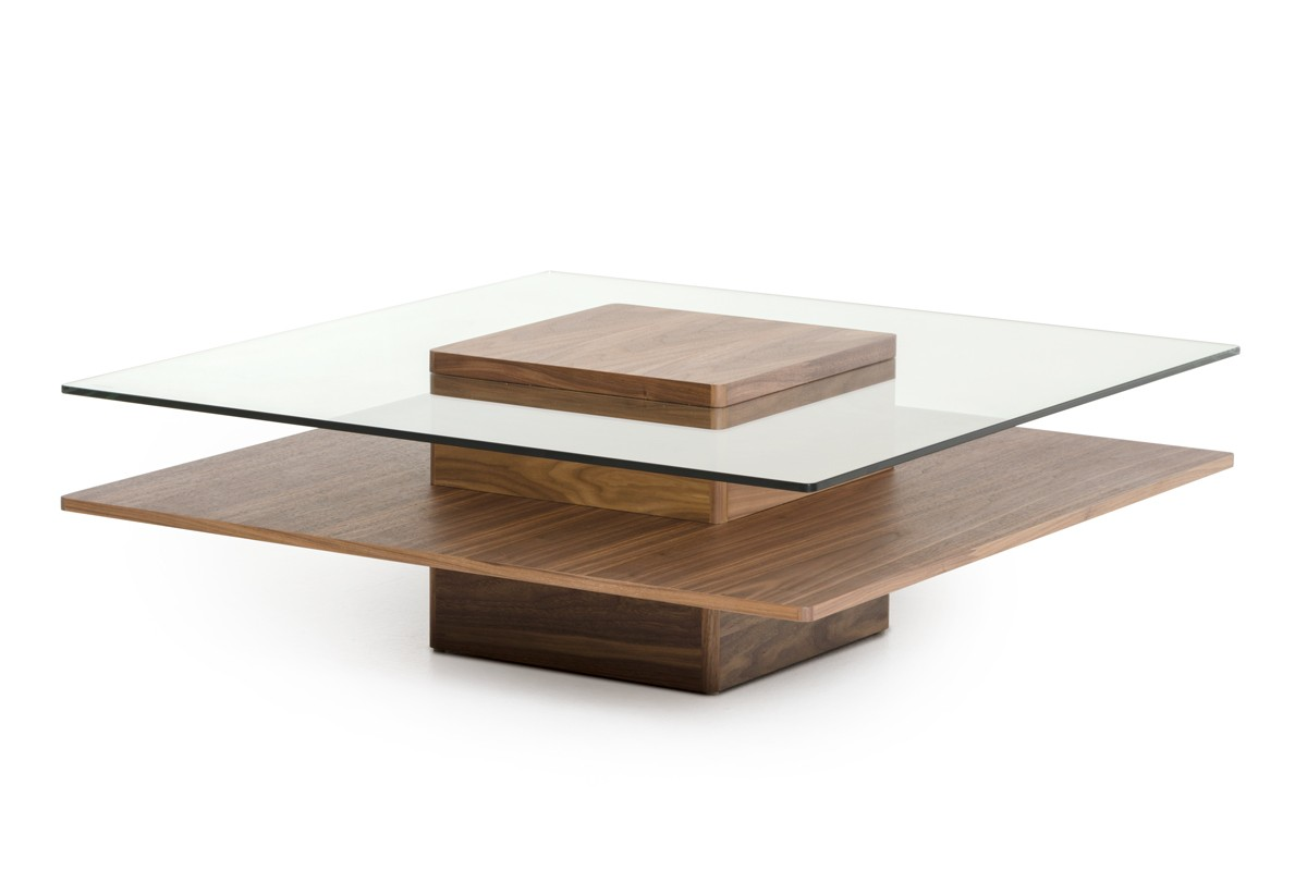 walnut and tempered glass transparent coffee table new york new