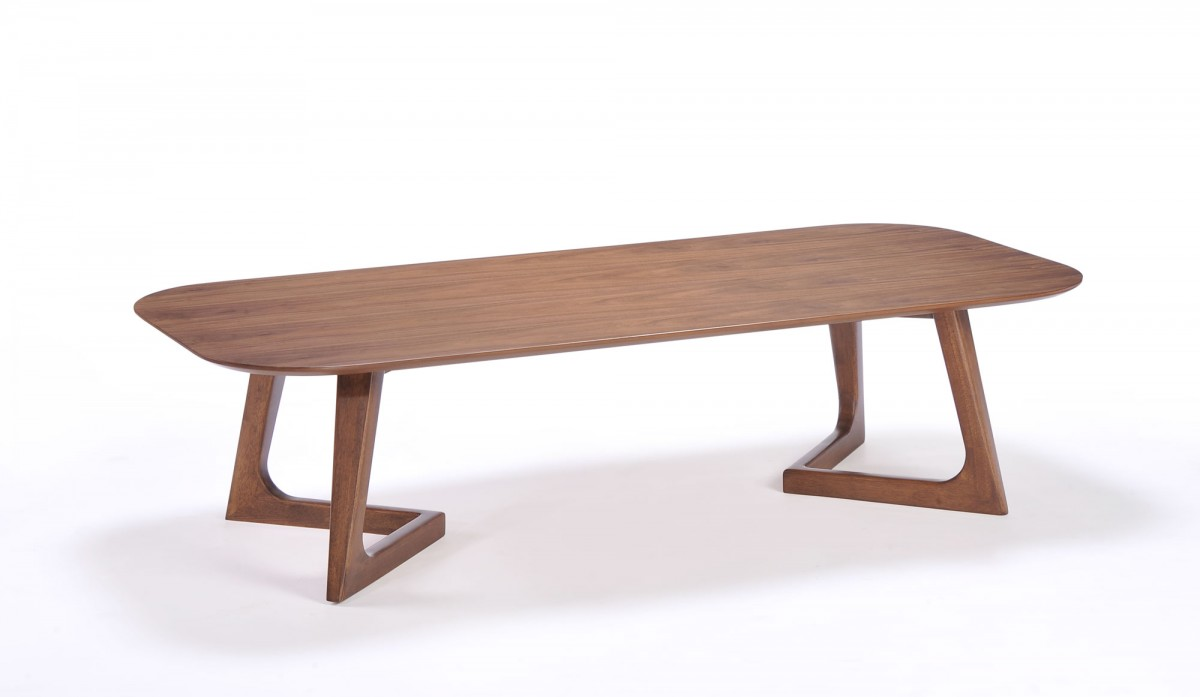 Easy Coffee Table.Modern Simple Walnut Coffee Table