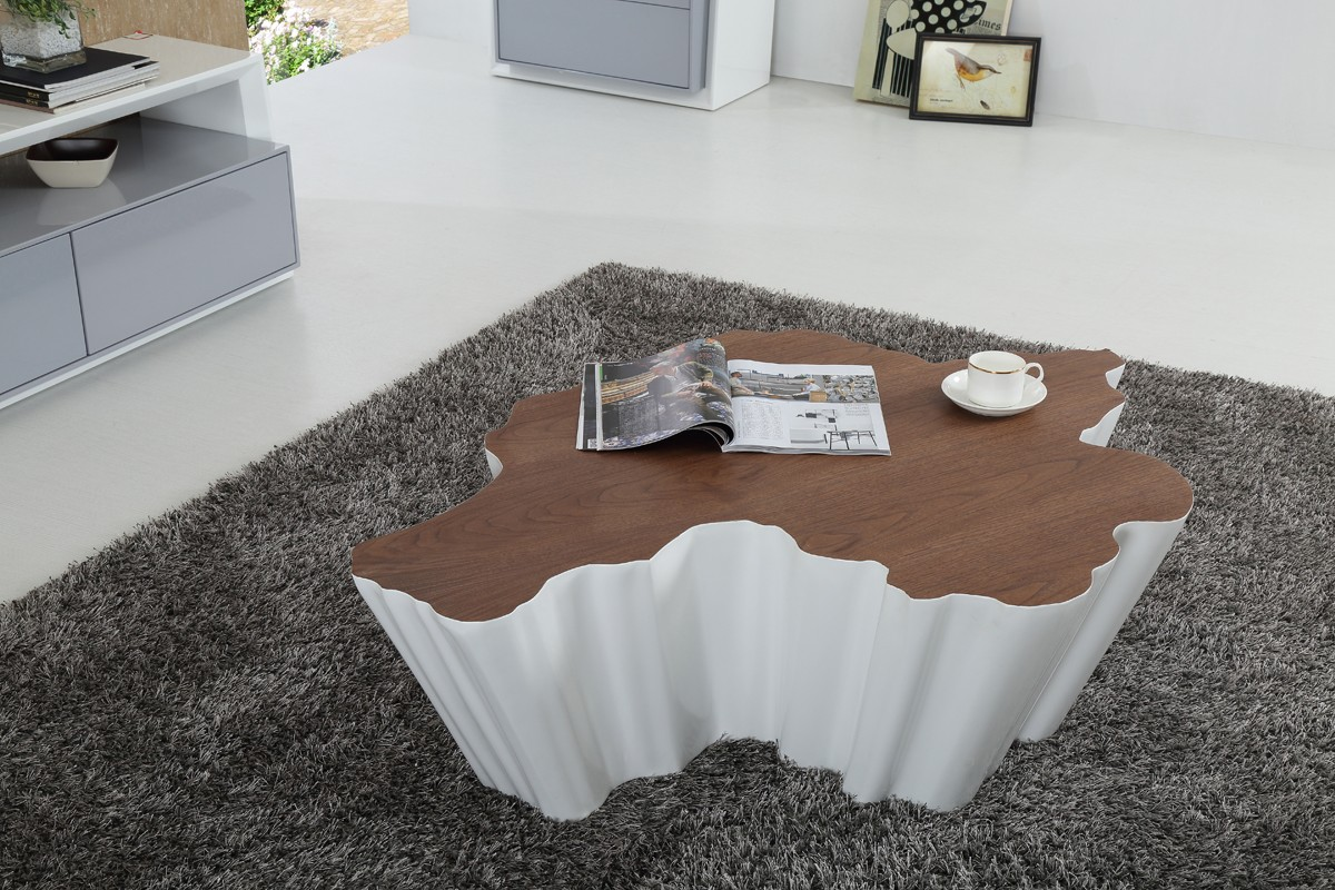 Designer Coffee Tables, Stylish Accessories. Modern Walnut And White Gloss  ...