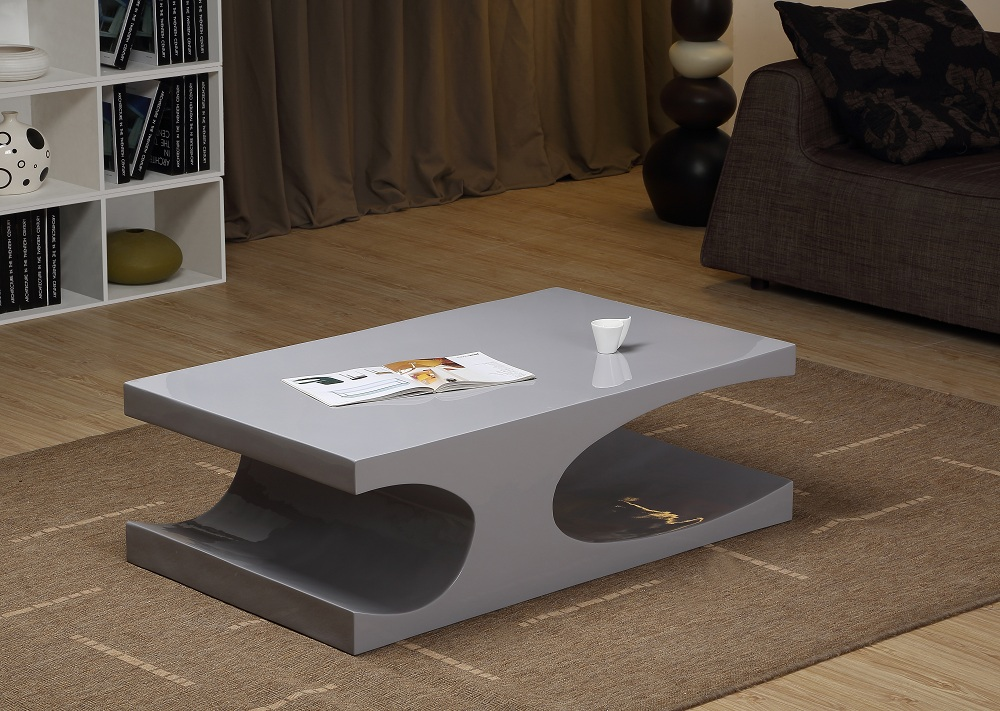 Contemporary Coffee Table In Grey Or White High Gloss Riverside