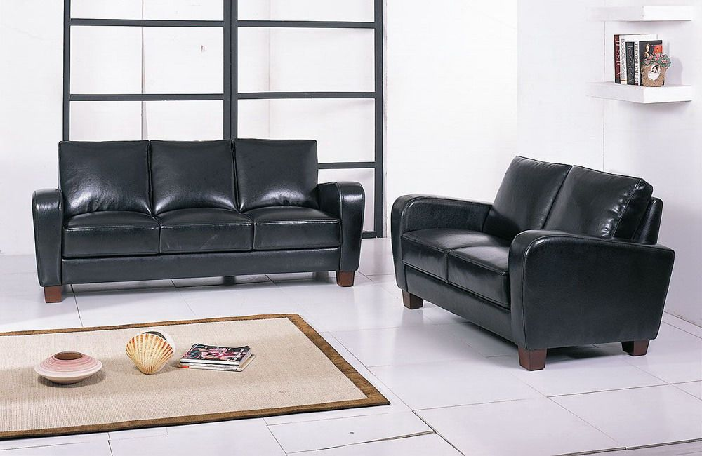 Briarwood Premium Italian Quality Leather Contemporary Sofa Set