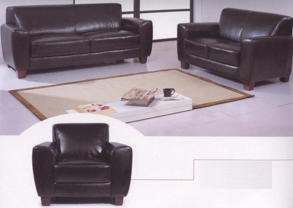 Lucas Leather Contemporary Sofa Set with Two Color Options